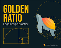 GOLDEN RATION LOGO design practice project
