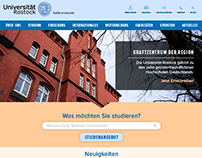 Universität Rostock Homepage Redesign Concept