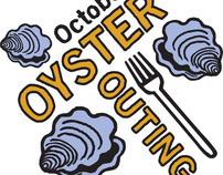October Oyster Outing logo design for Burke County, NC
