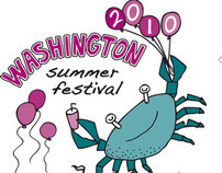 Washington Summer Festival T-Shirt Design