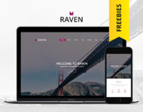 Raven - Free PSD Template