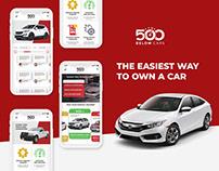UI/UX design 500 Below Cars: Car loan platform