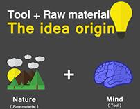 The idea origin (simple infographic) بالعربية أيضًا