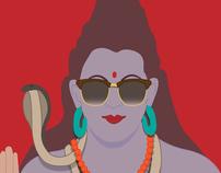 Poster #1 - Shiva kept calm before...