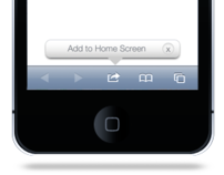 "iPhone ""Add to Home Screen"" Callout & Home Screen Icon"