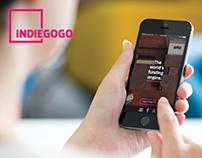 Indiegogo App Redesign