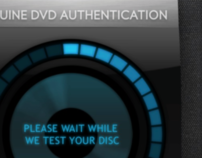 Genuine DVD Authentication UI