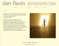 Dan Flavin Retrospective site