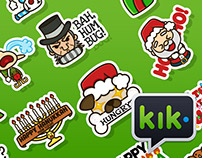 Happy Holidays set | Stickers for Kik Messenger