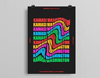 kamasi washington - gig poster