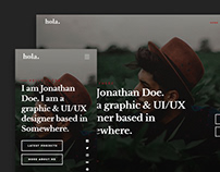 Hola - A FREE vCard Personal Porfolio Website Template
