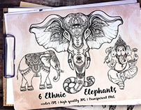 Elephant Vector Collection