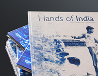 Editorial design - Hands of India book