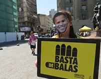 Intervención callejera  Amnistía Internacional - Chile