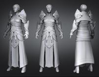 High resolution Female Monk from Diablo III