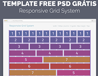 TEMPLATE FREE PSD - Responsive Grid System - 12 Columns