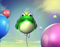 Frog balloons - 3D Project