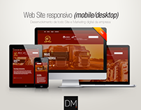 Web Site responsivo (mobile/desktop) | Diesel Force