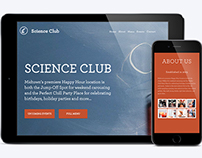 Science Club - Web & Mobile Design
