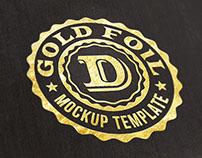 Free Logo/Text Mock-up – Gold Foil