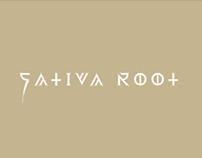 Schriftzug Sativa Root