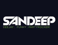 Deejay Sandeep - Identity Design
