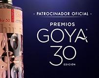 Patrocinio 30 edición Premios Goya - Saphir Parfums
