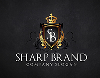 Sharp Brand is a clean and professional logo.
