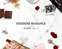 MOCKUP SCENE   FEMININE ROMANCE
