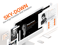 SKY-DOWN.One Page PSD Template