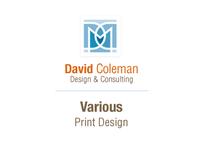 Various print design samples