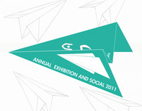 invitation design -annual exhibition and social 2011