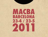 Cartel de la Exposición de Bauhaus en Macba Barcelona
