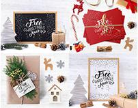 FREE CHRISTMAS TIME MOCKUP SET