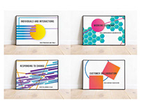 """Visuals for Guiding Principals """"agile working"""""""