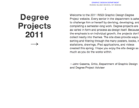 RISD Undergrad Degree Project show website