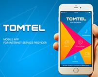 TOMTEL - mobile app for Internet Service provider