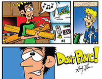 Don't Panic! by Andy Moore - A College Comic Strip book