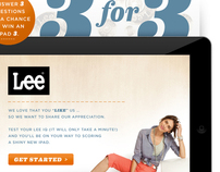 Lee Jeans 3 for 3 Facebook App