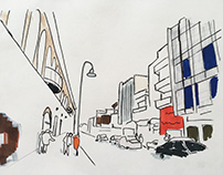 Urban Sketches. North Nicosia. Cyprus.