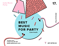 Live Indie Music Party   Free Download Design Templates