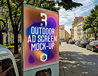 Outdoor Advertising Screen Mock-Ups 14 (v.2)