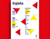 Cartel para España para el Mundial de Rusia 2018