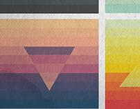 Minimalist colour palette various shapes