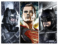 Batman v Superman: Dawn of Justice Ink Posters [x3]