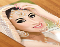 Vector Asian Bridal Portrait