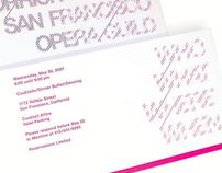 San Francisco Opera Fund Raising Event Invitation