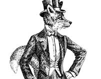 Rétro animals illustrations