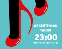 Tango night party poster