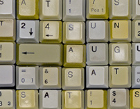 Typographic Keyboard Wall Calendar 2010